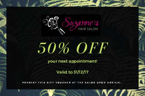 50% off at Suzanne's